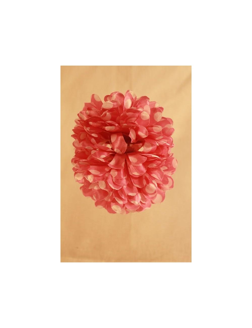 Fleur flamenco à pince bi-color