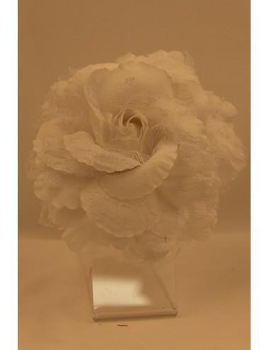 Fleur flamenco oeillet en dentelle