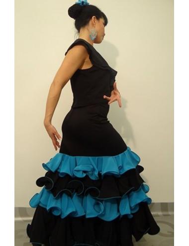 Flada flamenca azul Turquessa