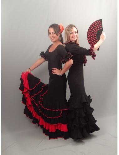 Flada flamenca negro y rojo Marisma 2