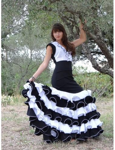 Flada flamenca negor y blanco Toffola