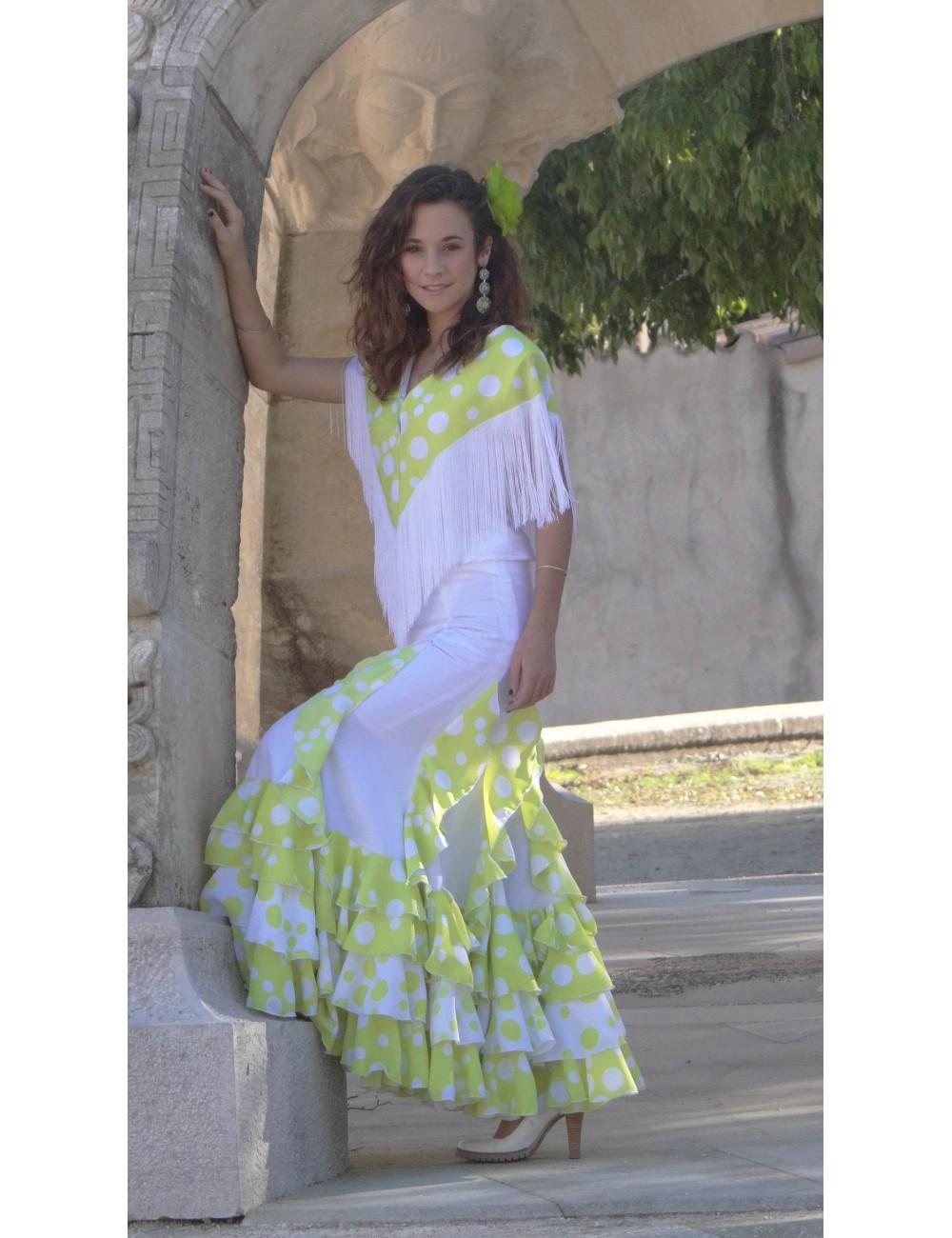 Jupe flamenco Gitana Anis