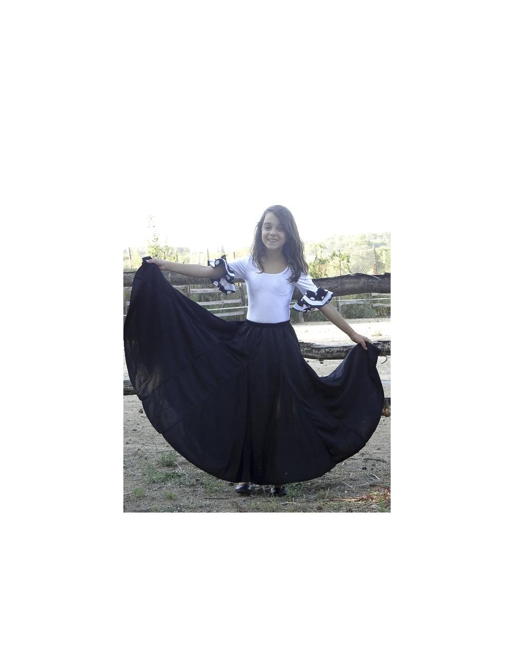 Jupe de répétition danse flamenco fille Sans V