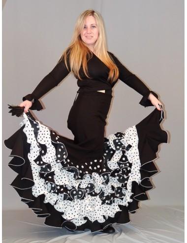 Falda flamenca Pieoblanco