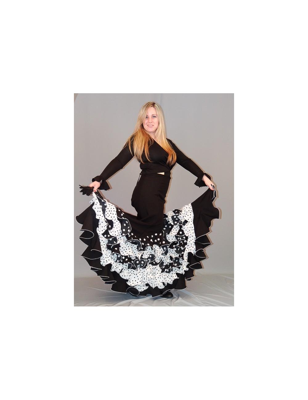 Jupe flamenco Pieoblanco