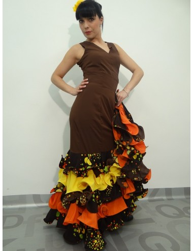 Jupe de flamenco marron Chocolatè