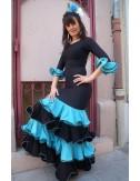 Robe Sévillane bleue et noire Luna