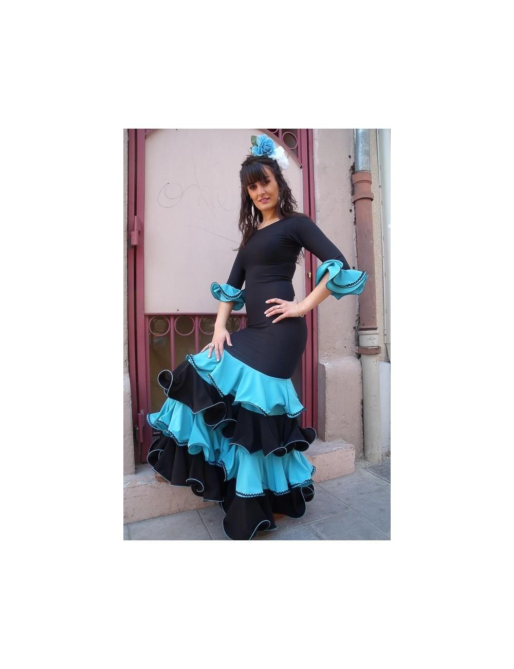 Robe Sévillane Bleue/Noire Luna