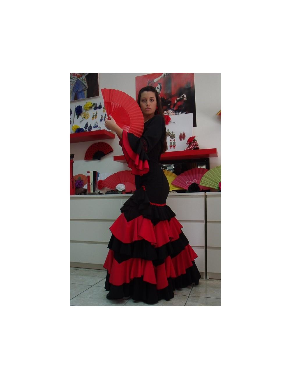 """Robe """"Espagnole"""" Noir/Rouge Guapa"""