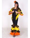 Trajes de Flamenca amarillo y negro Cordou