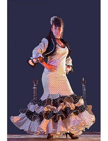 Robe Flamenco blanche Amarossa