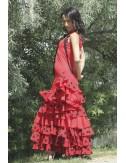 Robe de Flamenco rouge pas chère Toréra 1