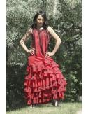 Trajes de flamenca rojo Toréra 1