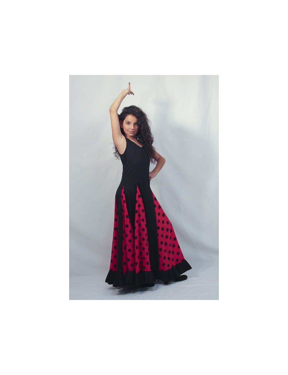 Robe de flamenco rouge Scala