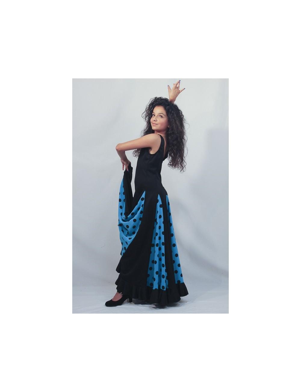 Robe de flamenco turquoise Scala