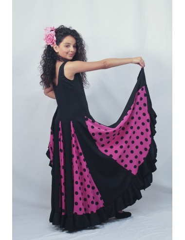 robe d 39 entrainement flamenco enfant tendance flamenca. Black Bedroom Furniture Sets. Home Design Ideas