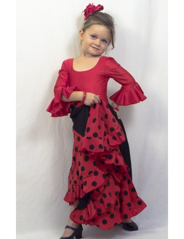 Body de flamenco enfant rouge