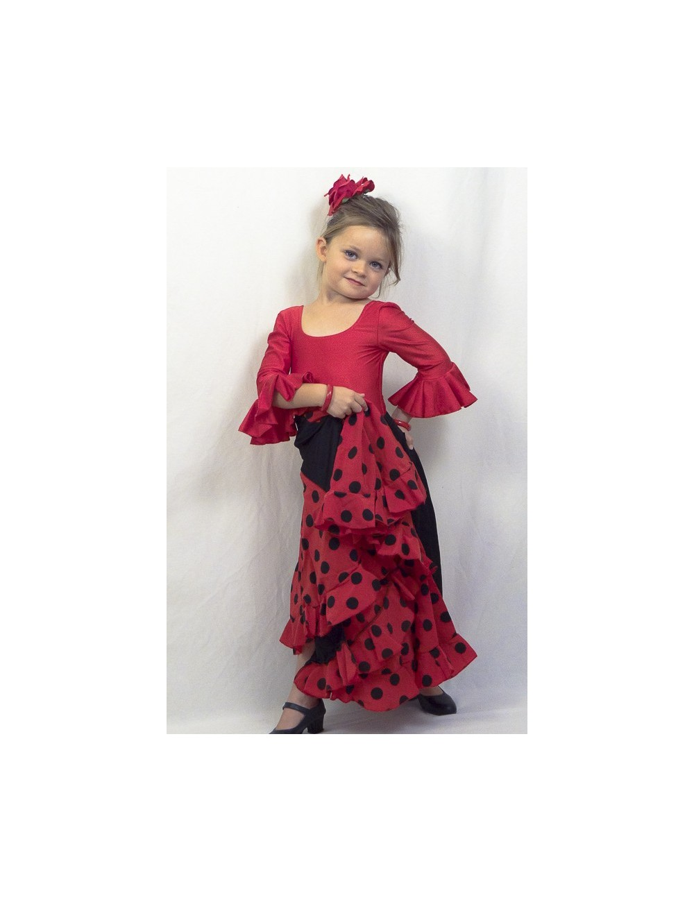 Body de flamenco enfant rouge