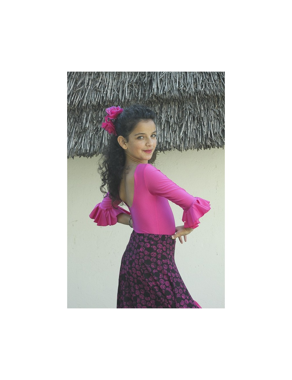 Body de flamenco fuschia