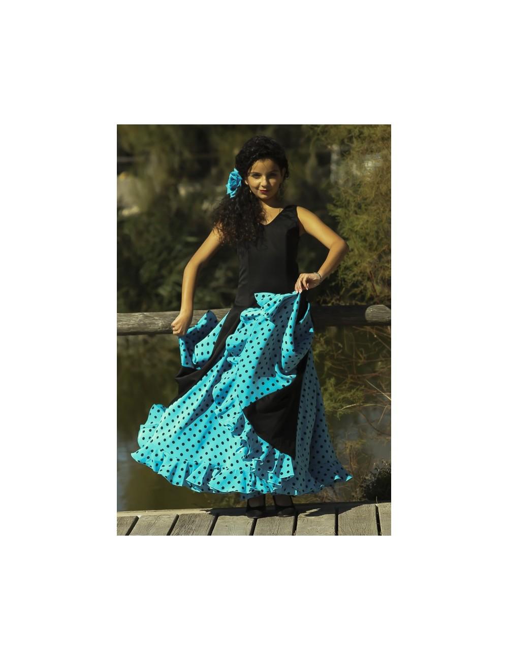Robe flamenco Scala Turquoise 2