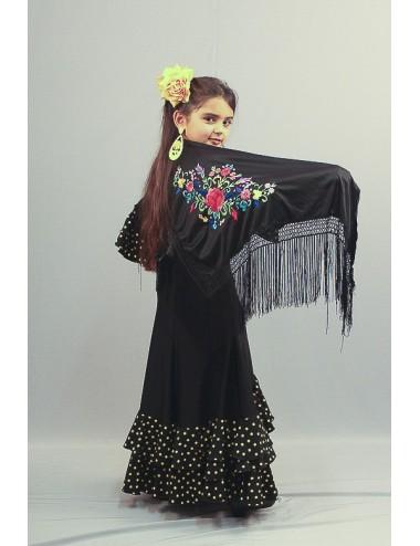 Noir brodé Multicolor