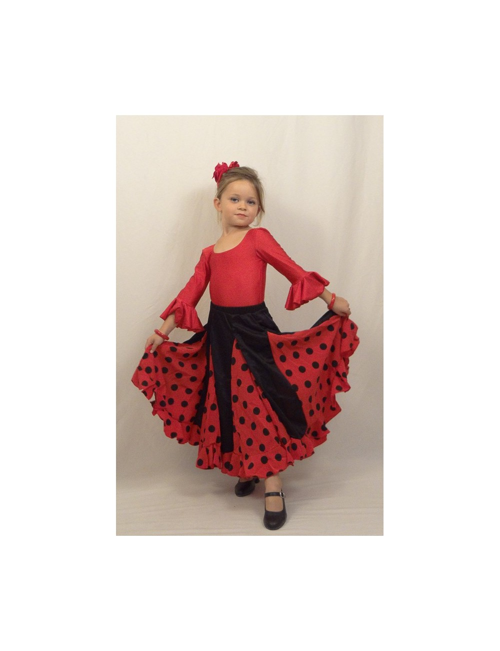 Jupe flamenco à laie Mélodia Roja