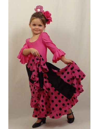 Kit N°2 tenue flamenco enfant fushia Mélodia Rosa