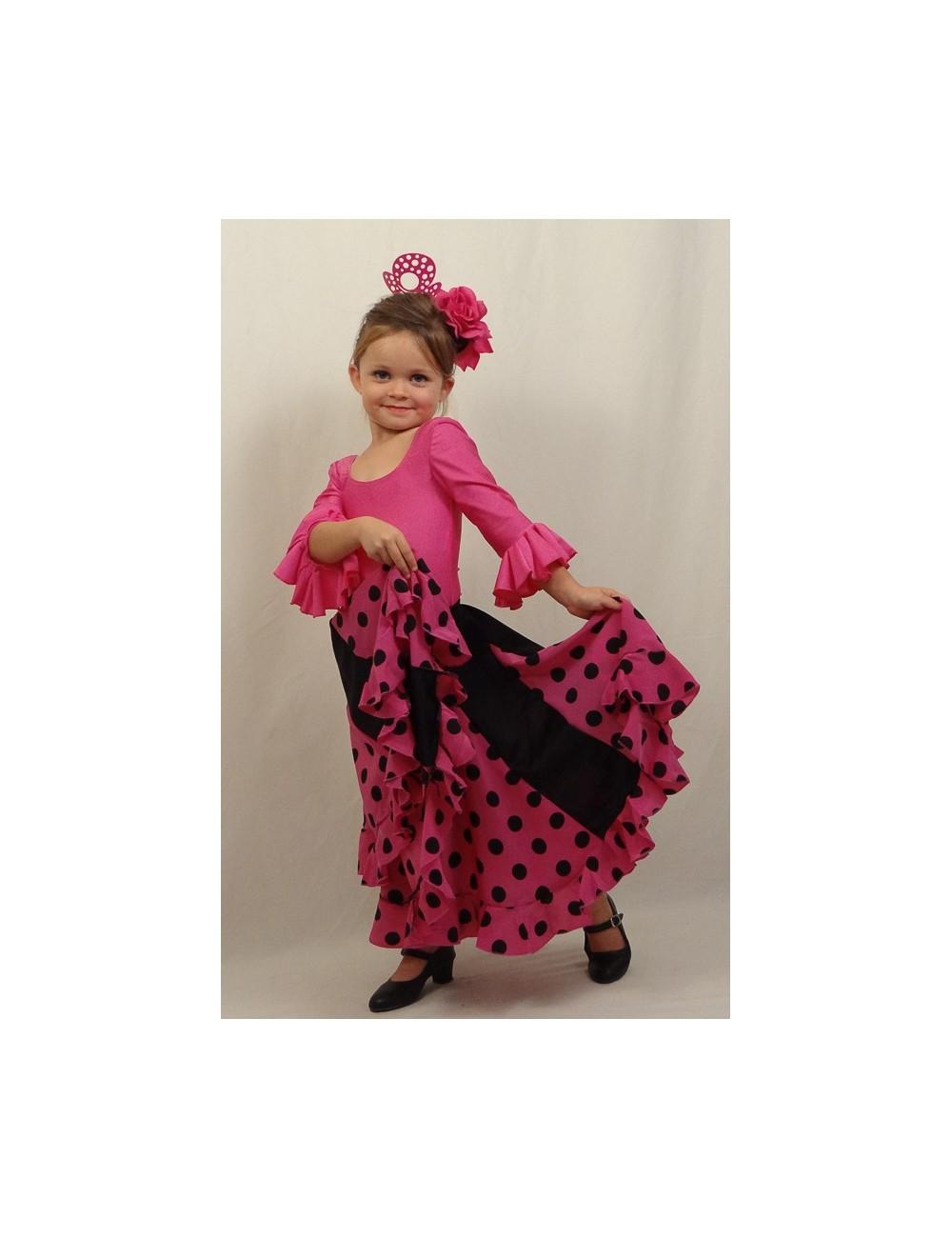 Kit N°2 tenue flamenco enfant fushia Mélodia Rosa