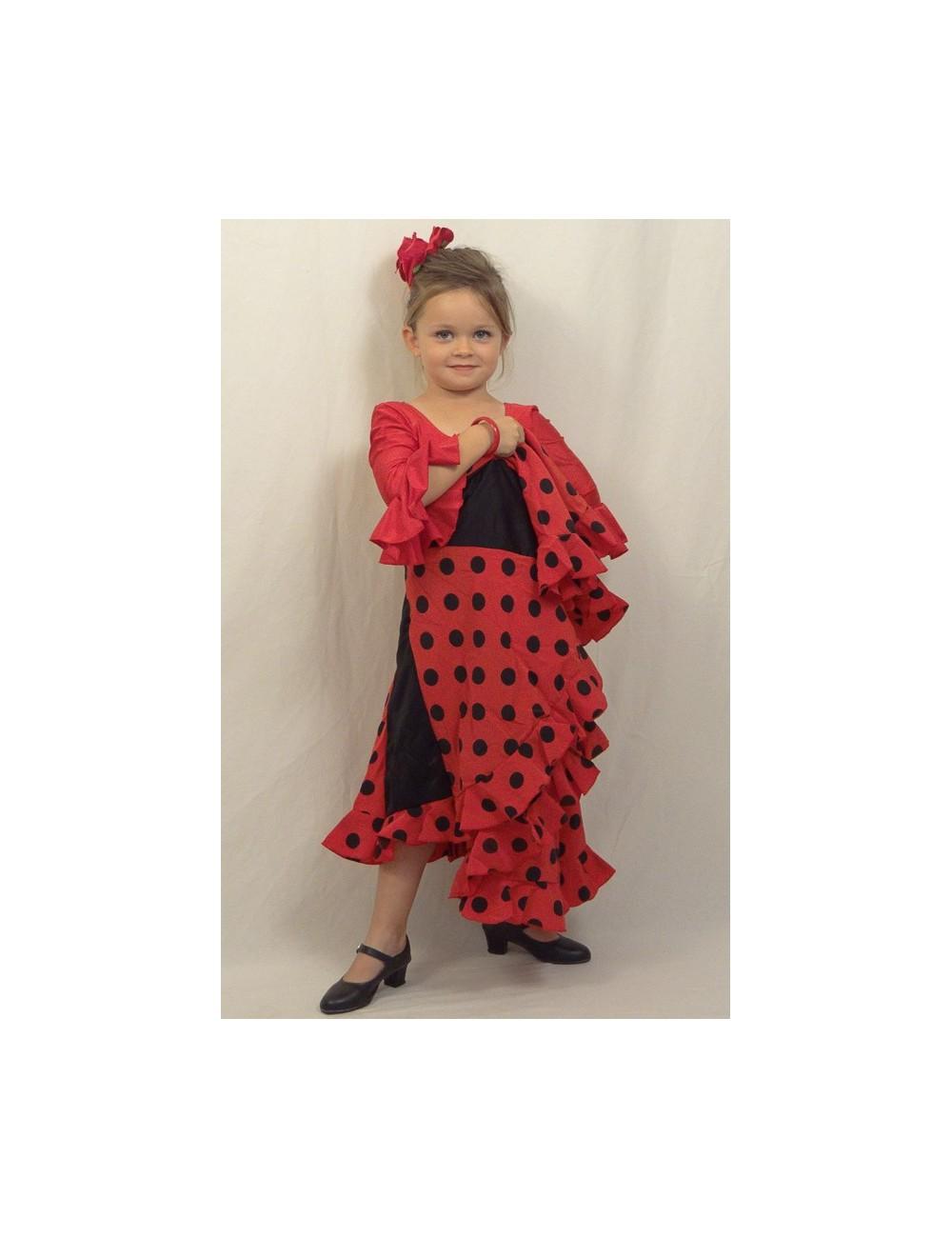Kit Jupe et body flamenco enfant Mélodia Roja
