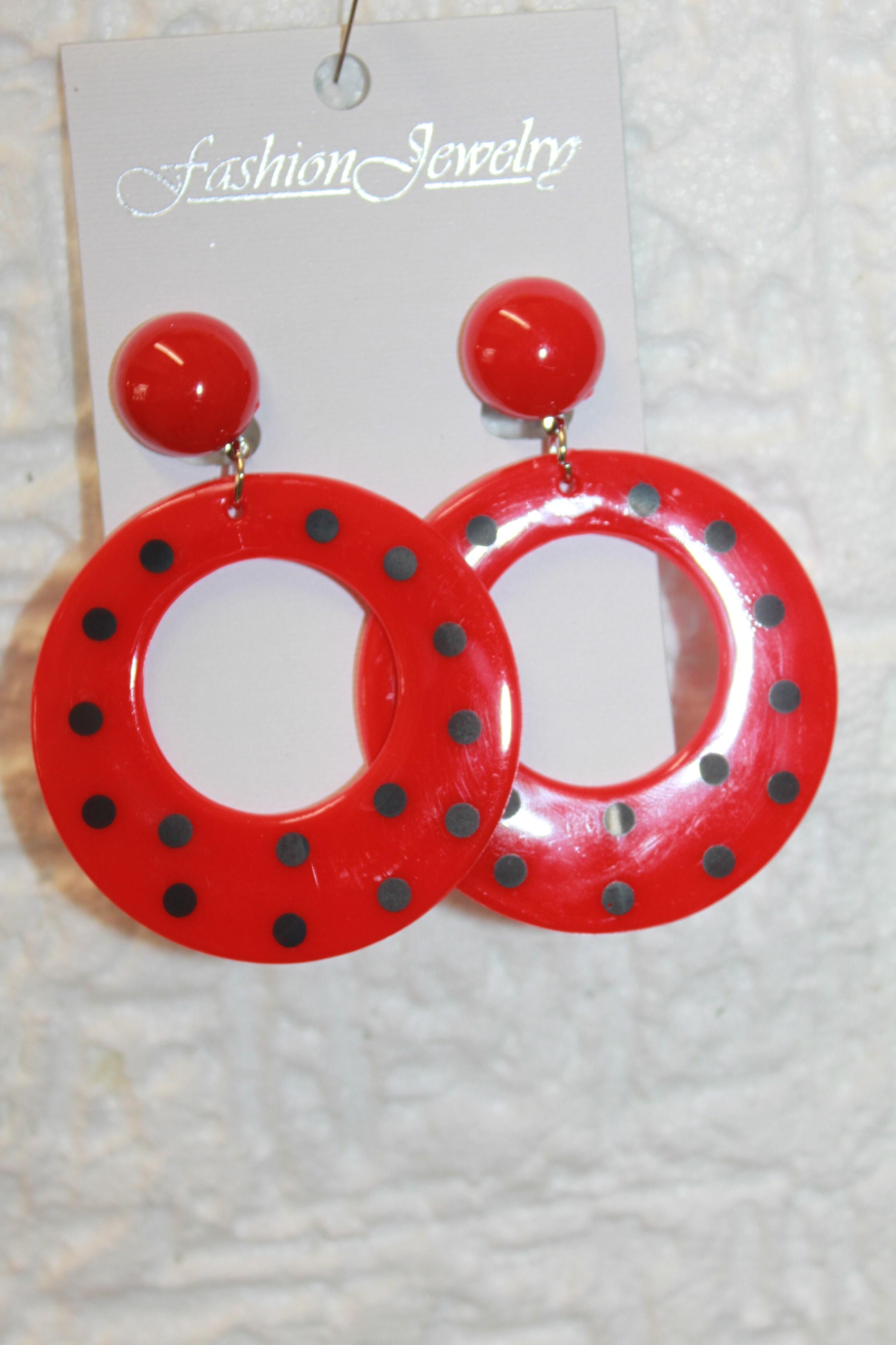 Boucle d'oreille clip plastique