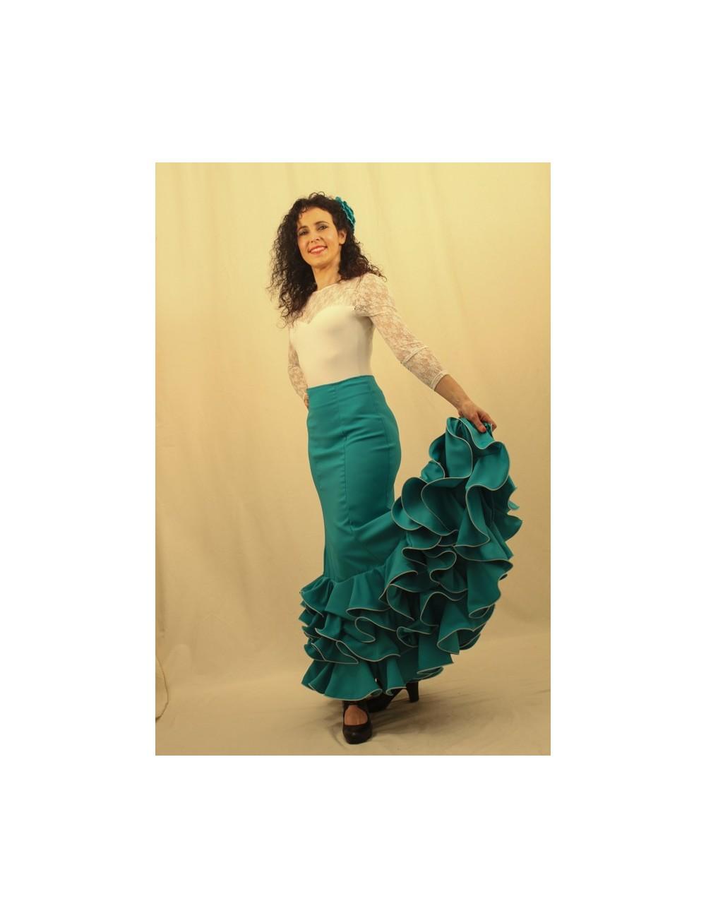 Jupe de flamenco Cordou Emeraude