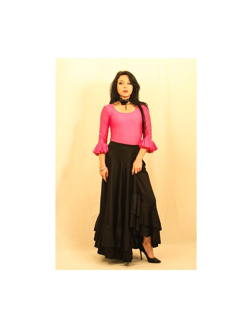 Kit tenue flamenco jupe & body Negra Fuchsia