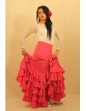 Jupe flamenco rouge Tcha tcha 1