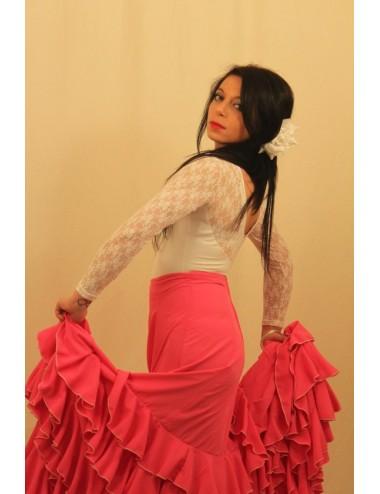 falda flamenca rojo tcha tcha