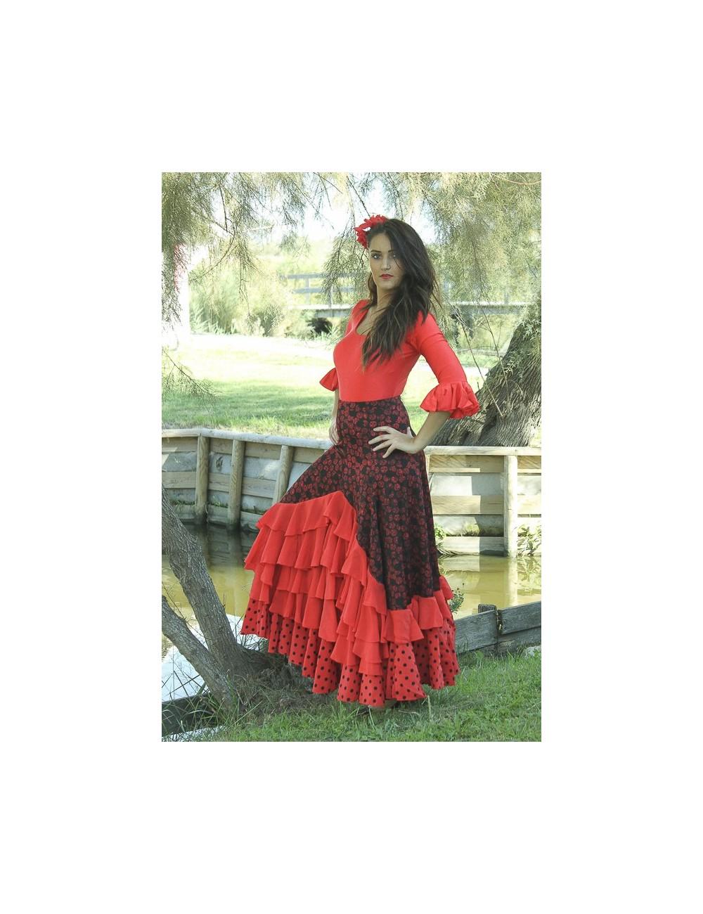 Jupe de flamenco Naja Roja