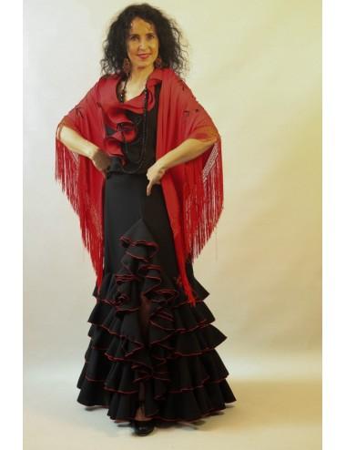 Rouge brodé Noir