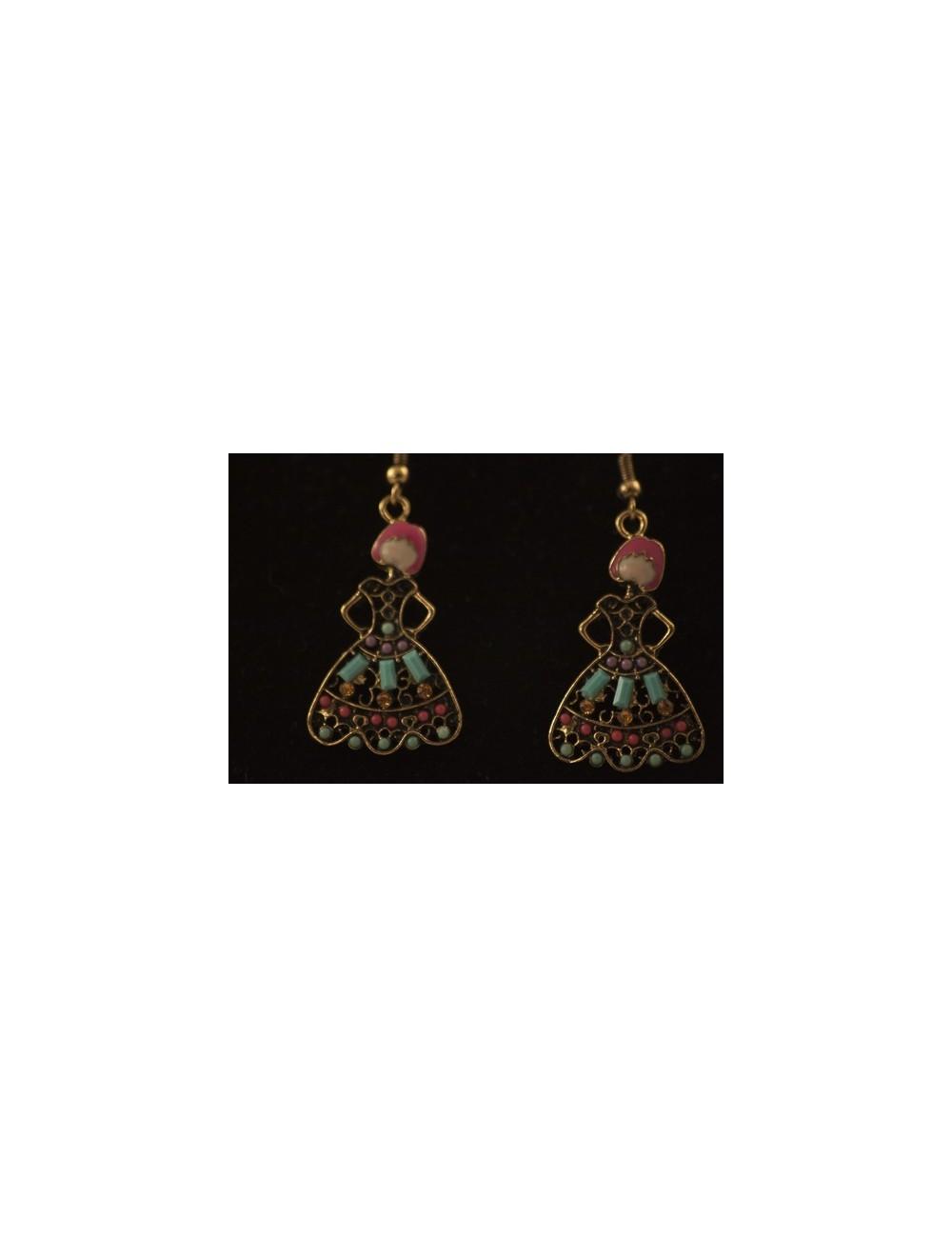 Boucles d'oreilles flamenco enfant