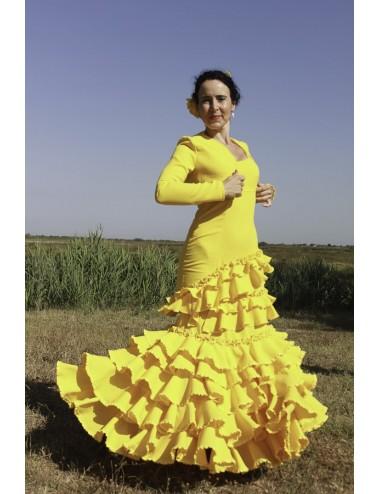 Trajes de Flamenca amarillo Silafé 2