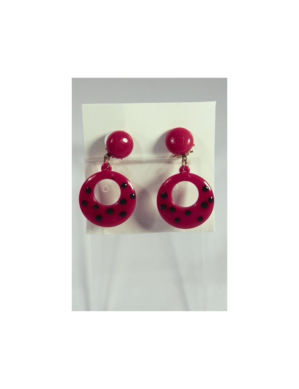 Boucles d'oreilles flamenco à clip enfants