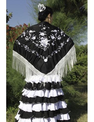 Noir brodé Blanc