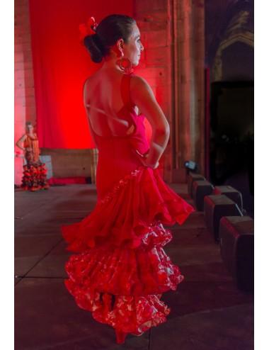 Robes Flamenco rouge Héléna 2