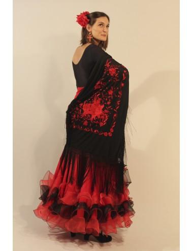 Noir brodé Rouge