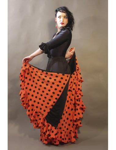 Jupe Flamenco pas chère orange Mélodia