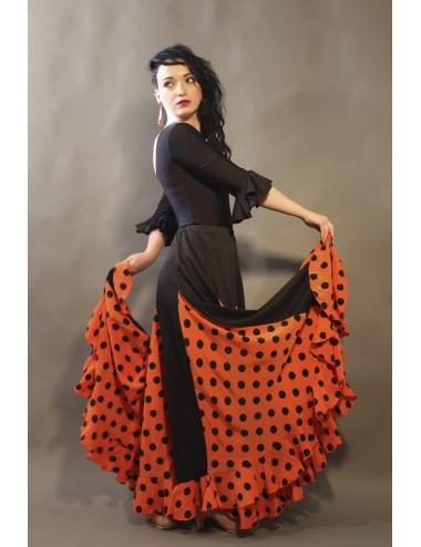 Falda flamenca naranja Mélodia