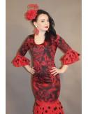 Robe flamenco pas chère rouge Shiva