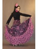 Jupe Flamenco rose Yoremy Shiva