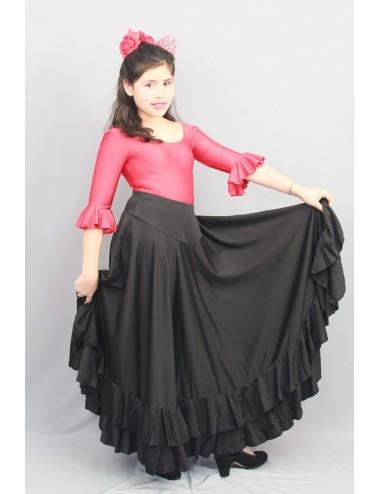 Kit Jupe et body flamenco Negra 1