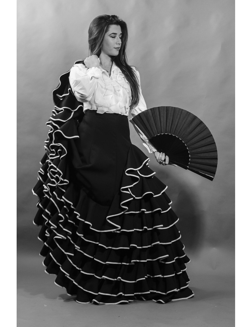 Falda flamenca negro Selina
