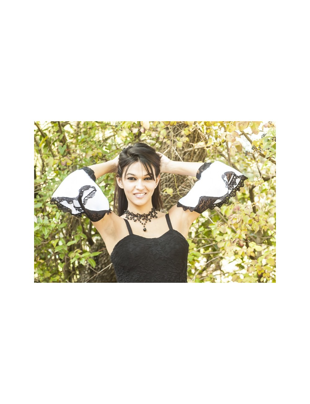 Bijoux de bras en dentelle flamenco