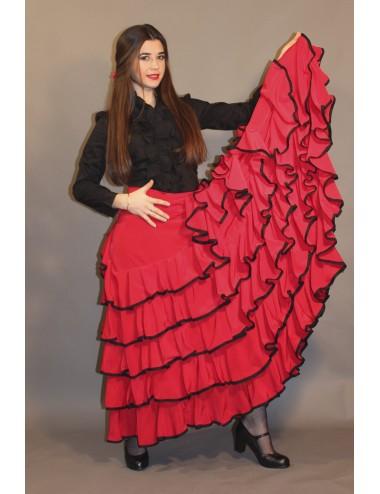 Jupe de flamenco rouge Sensation